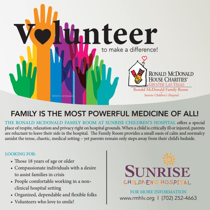Volunteer RMH Family Room